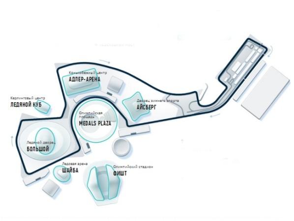 Схема трассы гонок FORMULA 1 в
