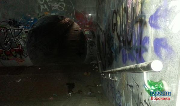 Подземный переход около Детского мира в Воронеже.