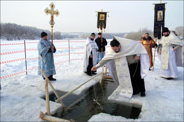 Где в Воронеже оборудуют купели на Крещение.