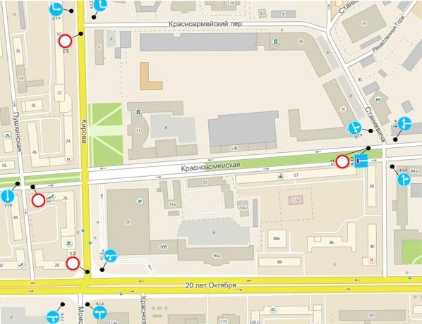 Схема перекрытия улицы Кирова.