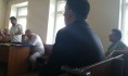 Адвокат зачитывает заявление об отводе судьи Виктора Серганова.
