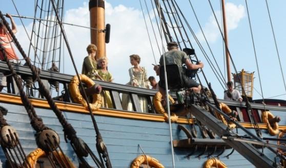 На борту корабля-музея сняли сцены сериала про Екатерину Великую.