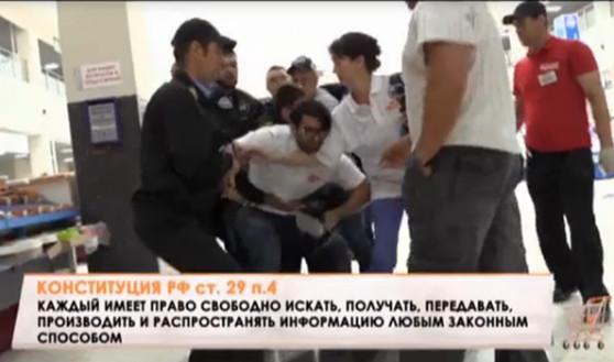 Охранники и сотрудники Центрального рынка не были рады съемочной группе телеканала.