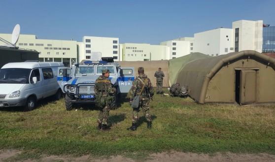 Под Воронежем оперативный штаб проводит учения.