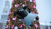 Празднование Нового года в Воронеже.