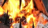 Огонь разгорелся от газового резака.