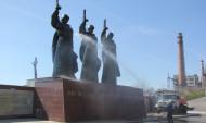 Монумент помыли накануне 9 Мая.