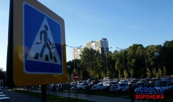 ВВоронеже начали строить парковку уЦентрального парка