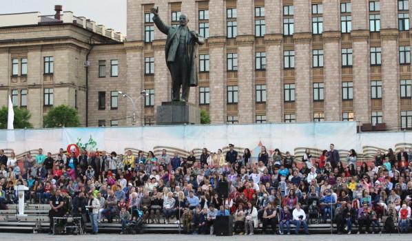Генеральная репетиция парада Победы-2017 в Воронеже.
