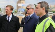 Мэр посетил площадку, где идет реконструкция развязки.