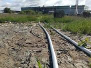 Продолжается загрязнение территорию очистных сооружений.