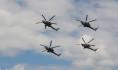 Демонстрационный полет экипажей вертолетов Ми-28Н «Ночной охотник» .