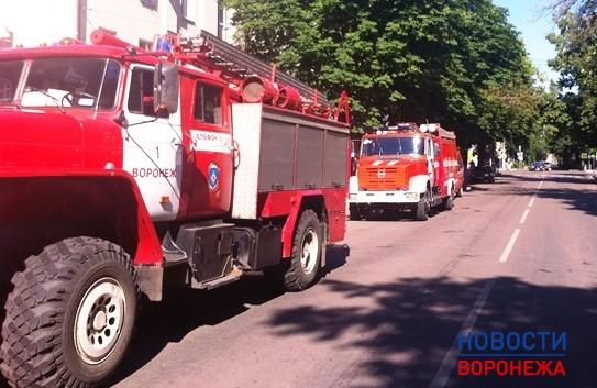 Пожар на улице Комиссаржевской.