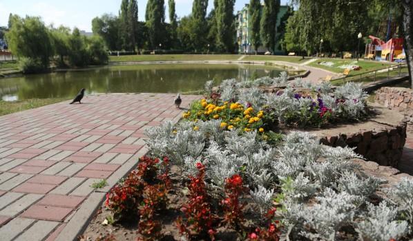 Озеро на Ленинском проспекте.
