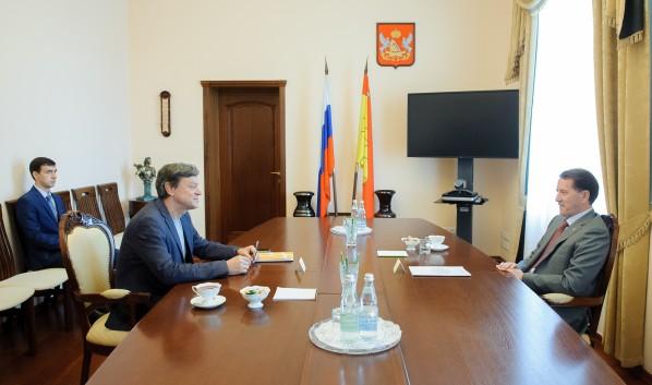 Встреча Алексея Гордеева и Михаила Бычкова.