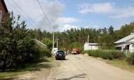 Вновь горит трава и валежник в Отрожке.