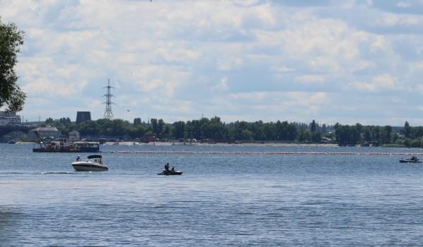 Расчистка воронежского водохранилища.