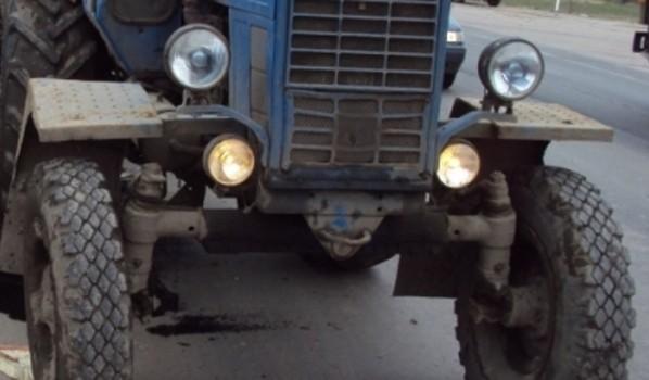 Трактор сдали на металлолом.