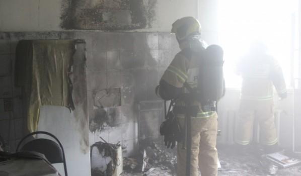 Произошел пожар в здании больницы.