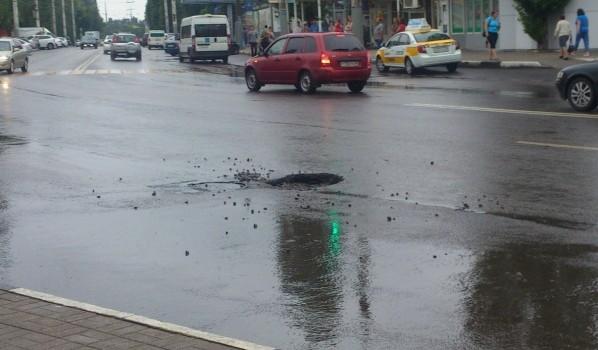 Вмэрии Воронежа поведали опричине провала дороги наулице Писателя Маршака