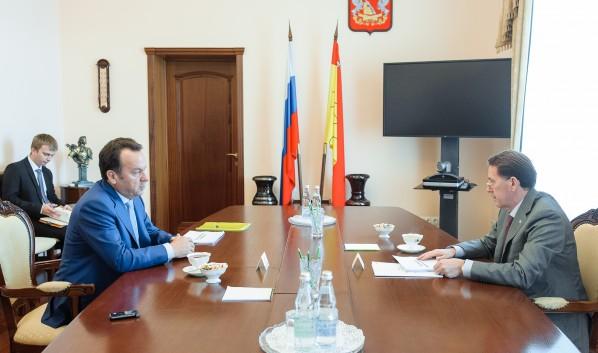 Встреча губернатора с Владимиром Салминым