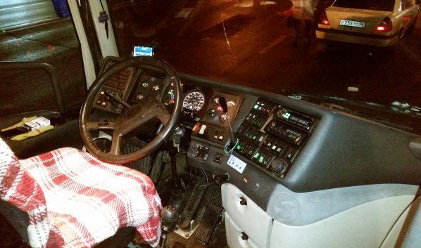 Автобус сломался.