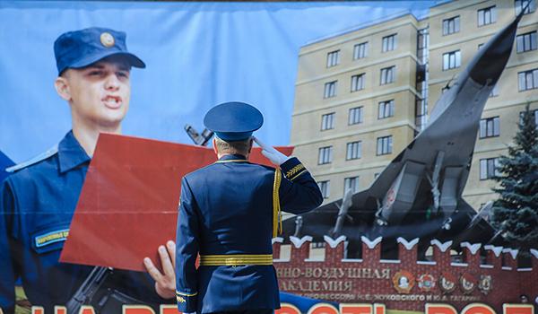 Присяга на площади Ленина в Воронеже.