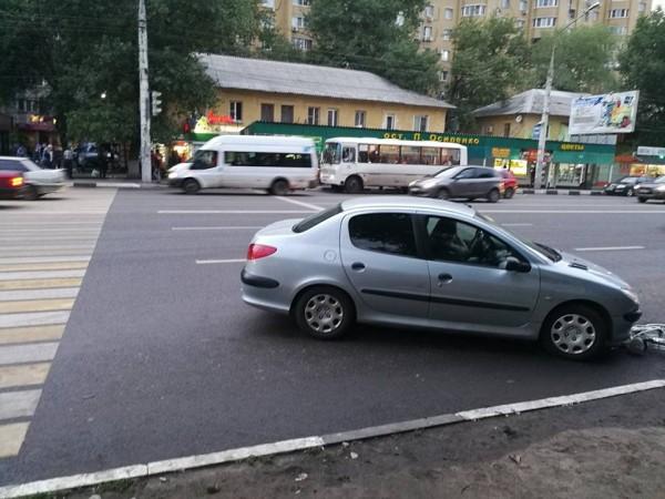 Авария произошла на переходе.