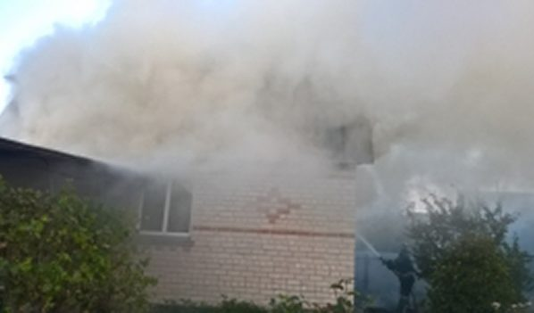 Пожар в дачном доме.