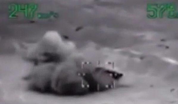 Удар по боевикам нанесли с воздуха.