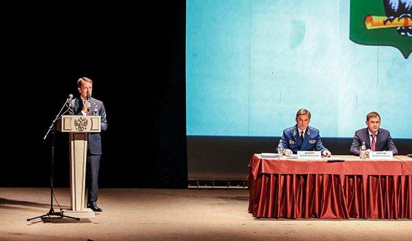 Выступление Алексея Гордеева.