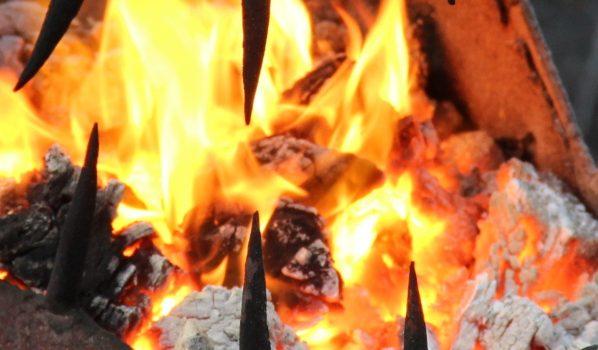 Сгорело сено.