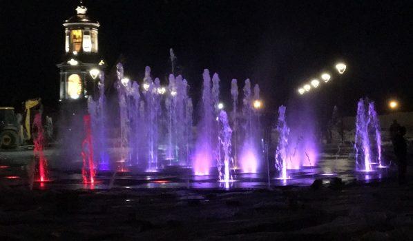 Сухой фонтан на Советской площади в Воронеже.