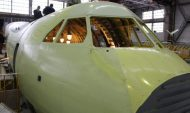 Сборка самолета Ил-112В в Воронеже.