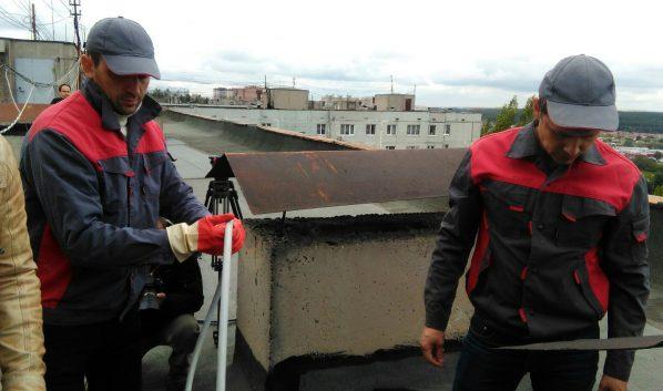 Отключение канализации проходит через крышу.