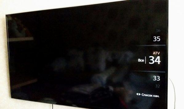 Украли телевизор.