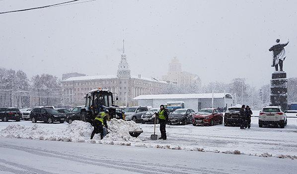 Зима приходит в Воронеж.