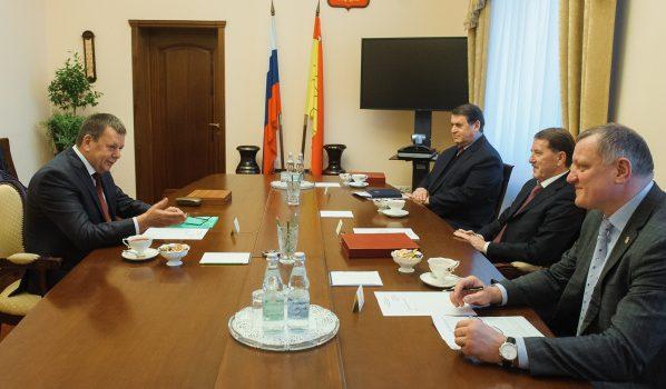 Обсудили развитие хоккея в Воронеже.