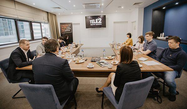 На встрече Tele2 с представителями СМИ.