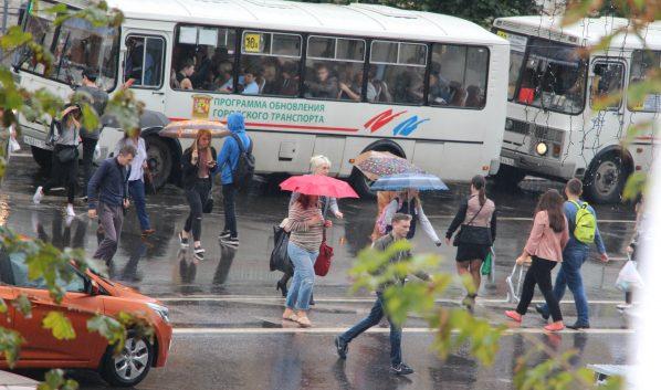 В городе пройдут дожди.