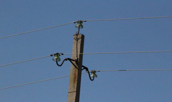 Электрический столб.