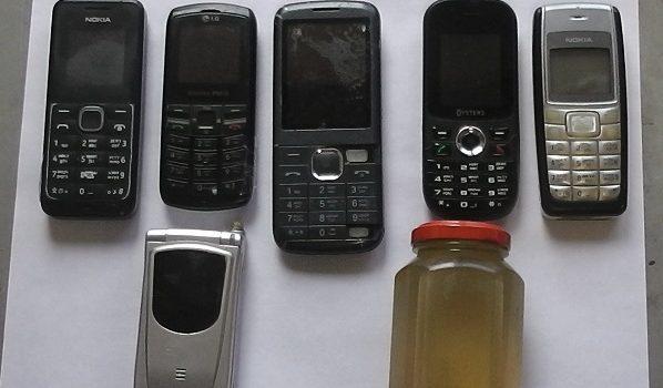 Телефоны и спирт.