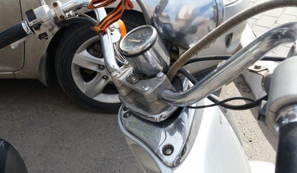 Мотоцикл полностью сгорел.