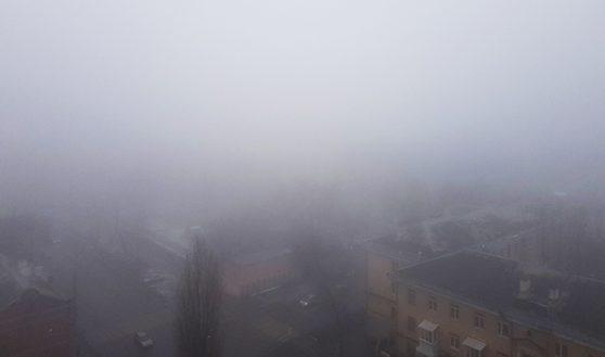 Туман в Воронеже.