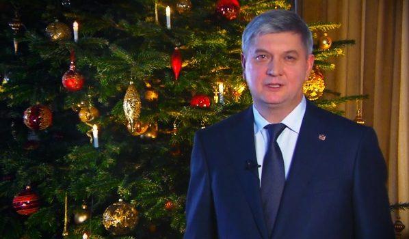 Александр Гусев поздравил местных жителей с Новым годом.