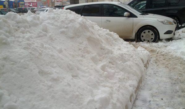 В городе ждут снегопада.