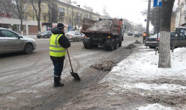 Из города вывезли 1,7 тысячи тонн снега.