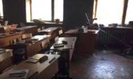 Кабинет школы после нападения.