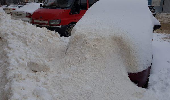 Последствия снегопада.