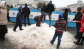 Снег на площади Ленина.